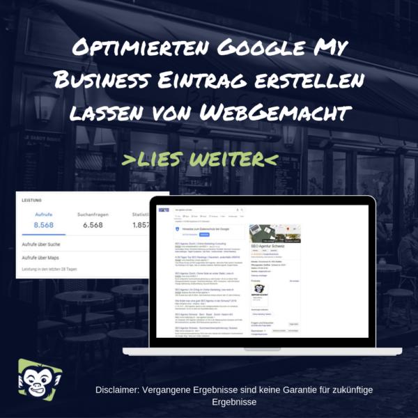 Optimierten Google My Business Eintrag erstellen lassen von WebGemacht